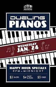 Dueling Pianos @ Pub on 8th