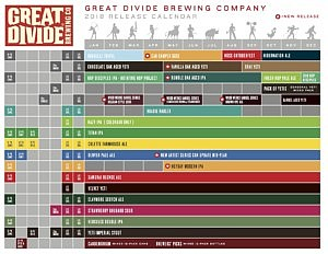 Great Divide's 2018 Release Calendar