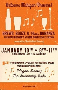 1/10 – Brews, Booze & Blues Bonanza @ Old Dog Tavern, Kalamazoo, MI