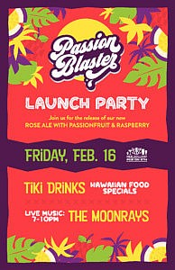 Passion Blaster Launch Luau @ Pub on 8th