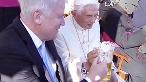 Pope Benedict XVI Celibrates his 90th Birthday with a Beer