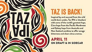 TAZ IPA – 4/11@Pub on 8th