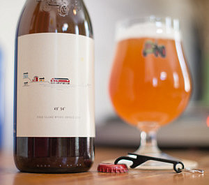 Beau's beer 49º 54º made with ingredients foraged on NL's Fogo Island