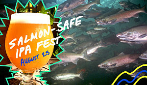 Check out the beer list for August 25th's Salmon-Safe IPA Fest!